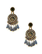 Antique Gold Finish Beads Styled Earrings