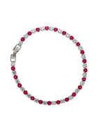 Very Classy Silver Finish Pink Colour Bracelets