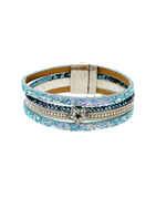 Silver Finish Sparkling Bracelets For Girls
