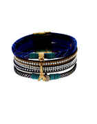 Blue Colour Leather Bracelets For Girls