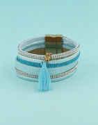 Turquiose Colour Fancy Korean Bracelets For Girls