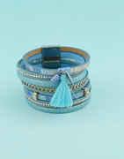 Blue Colour Silver Finish Designer Bracelets