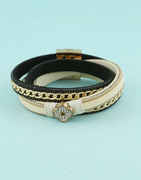 Gold Finish Chian Bracelets For Fancy Girls