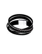 Black Colour Silver Finish Designer Bracelets For Girls