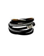 Black Colour Designer Leather Bracelets