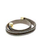 Grey Colour Leather Bracelets For Girls