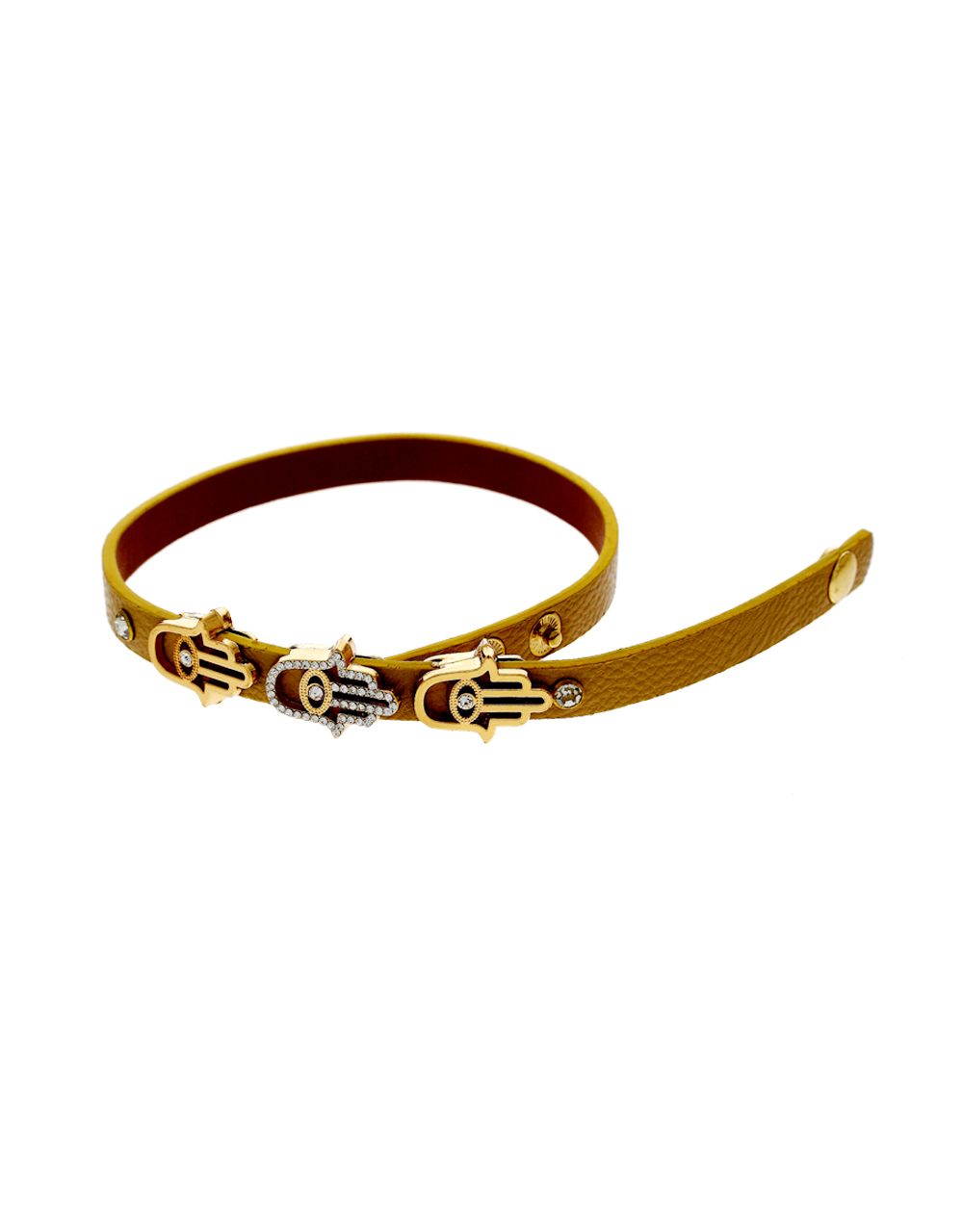 Gold Finish Styled With Brooch Fancy Hand Jewellery