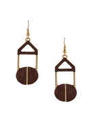Designer Brown Colour Gold Finish Fancy Earring