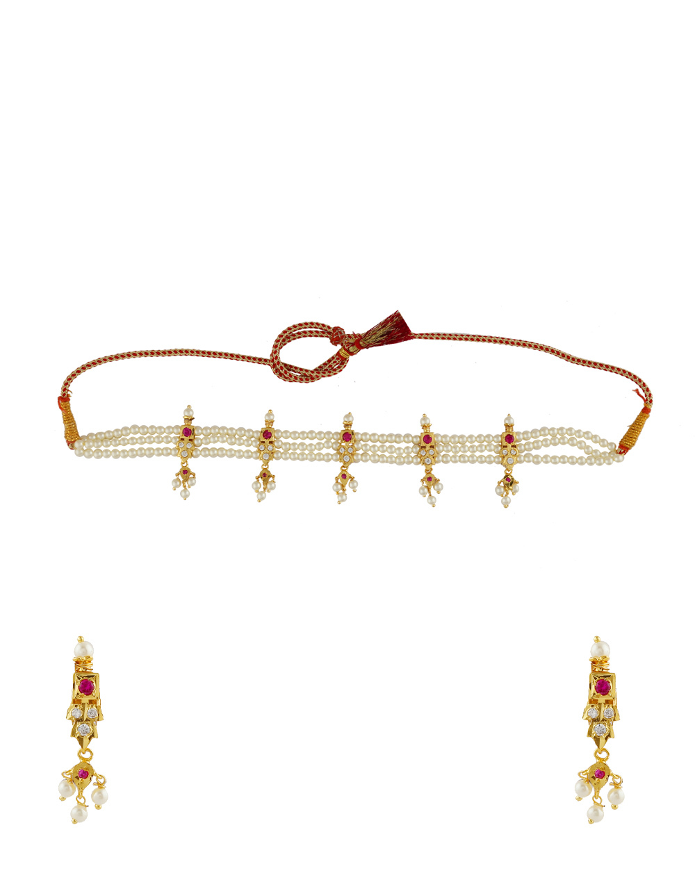 cc7f3c3f0559 Buy Gold Finish Moti Necklace For Women Fancy Online