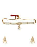 Gold Finish Moti Chokar Necklace For Women