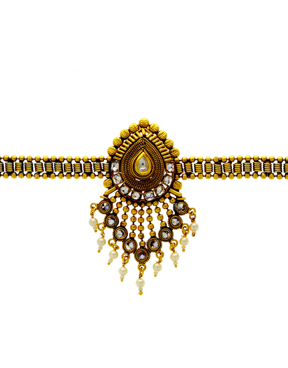 Gold Finish Designer Bajuband Fancy For Girls