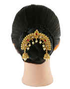 Red Colour Gold Finish Fashionable Hair Brooch