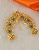 Green Colour Floral Design Hair Accessories Pin Brooch