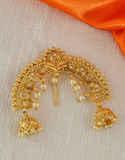 Floral Design Gold Finish Brooch For Girls Fancy