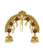 Designer Gold Finish Floral Hair Ambada Pin For Girls