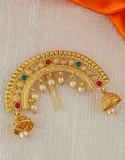 Simple Gold Finish Ambada Brooch Pin