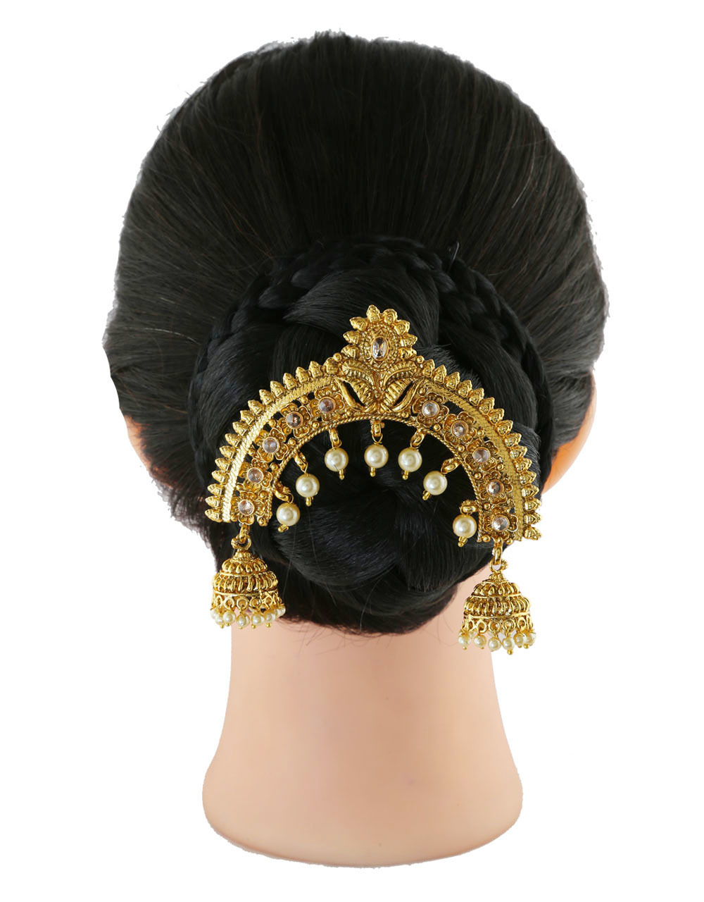 Gold Finish Floral Design Hair Pin Accessories