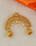 Peach Colour Ambada Brooch For Wedding