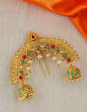 Multi Colour Gold Finish Hair Ambada Pin Accessories