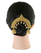 Gold Finish Hair Jewellery Styled With Pearls Beads Pin
