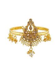 Floral Design Gold Finish Bajunand For Girls Fancy