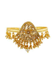 Fancy Gold Finish Bajuband Styled With Pearls Beads Fancy Armlet
