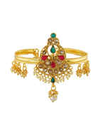 Gold Finish Multi Colour Designer Bajuband Fancy