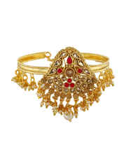 Red Colour Gold Finish Stunning Bajuband Armlet