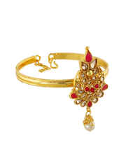 Very Classy Gold Finish Red Colour Bajuband Fancy