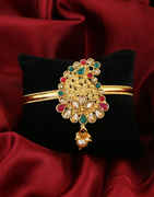 Red-Green Colour Gold Finish Fancy Maharashtrian Jewellery