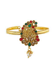 Red-Green Colour Gold Finish Fancy Maharashtrian Jewellery