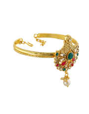 Unique Design Gold Finish Armlet For Girls Fancy