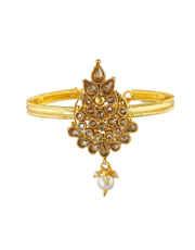 Adorable Gold Finish Hand Bajuband