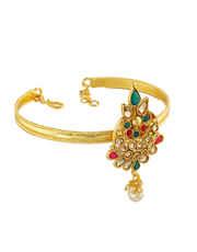 Multi Colour Fancy Gold Finish Bajuband Traditional