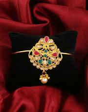 Adorable Multi Colour Gold Finish Bajuband
