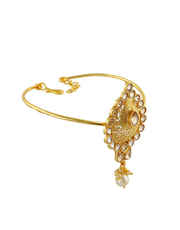 Fancy Gold Finish Armlet Studded With Stones Fancy Armlet Designs