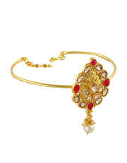 Red Colour Gold Finish Fancy Armlet Studded With Stones Fancy Jewellery