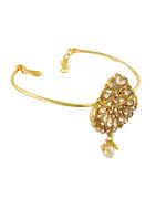 Peach Colour Gold Finish Designer Bajuband Studded With Stones Fancy Armlet