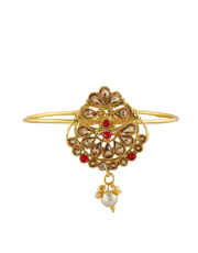 Red Colour Gold Finish Armlet Studded With Stones Fancy Bajuband