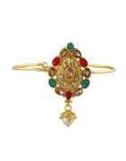 Multi Colour Gold Finish Designer Bajuband