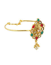 Multi Colour Gold Finish Designer Bajuband