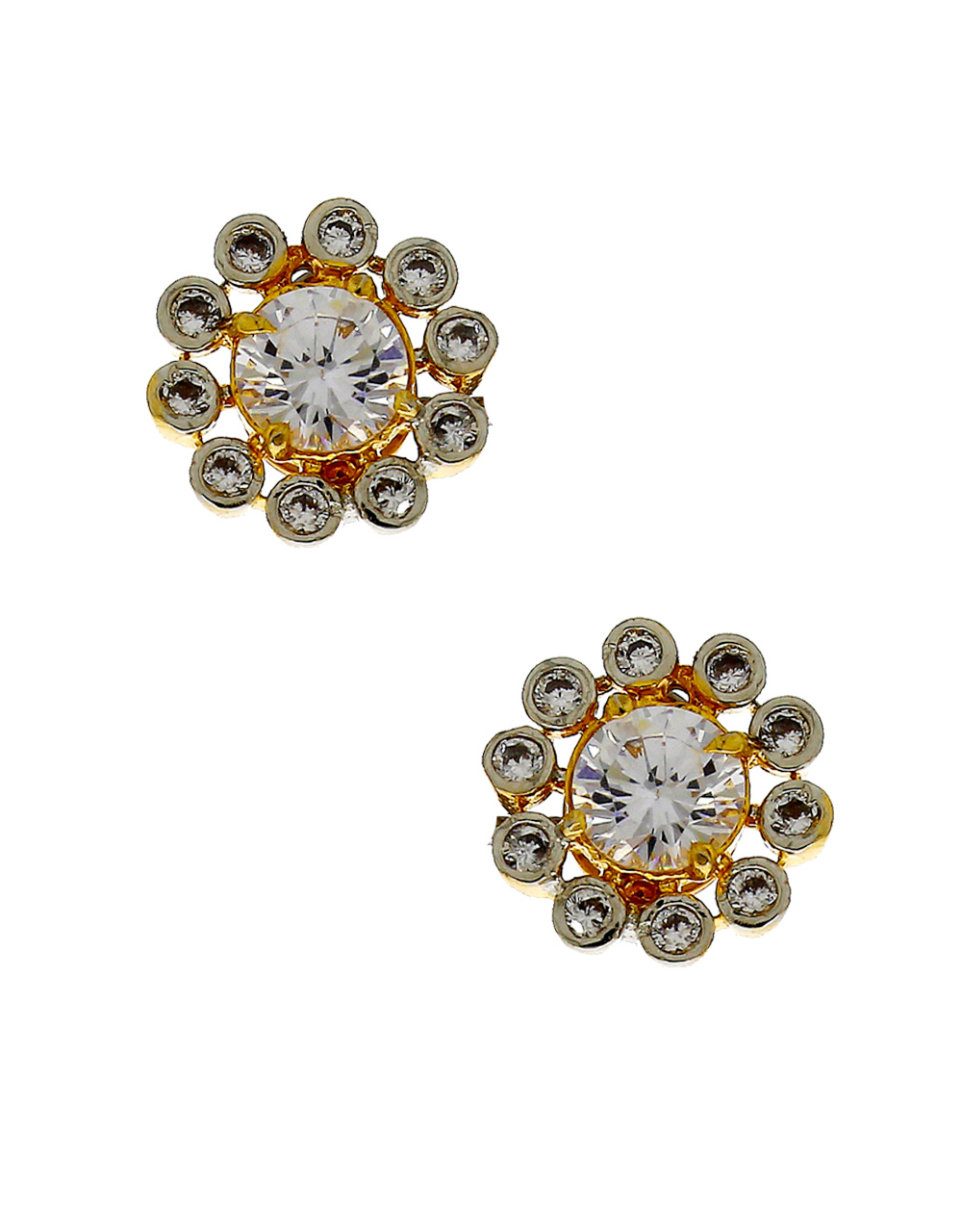 ba7f4a45c Designer Gold Finish American Diamond Stud Earring. Loading zoom. image