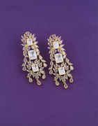 Gold Finish Fancy Western Earrings For Girls