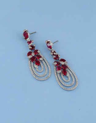 89938aa296a01 Diamond Earrings: Latest American Diamond Earrings Design Online at ...