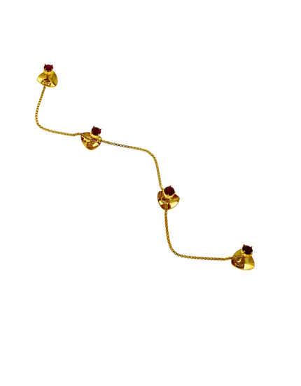 Simple Pink Colour Gold Finish Kurta Button Jewelley