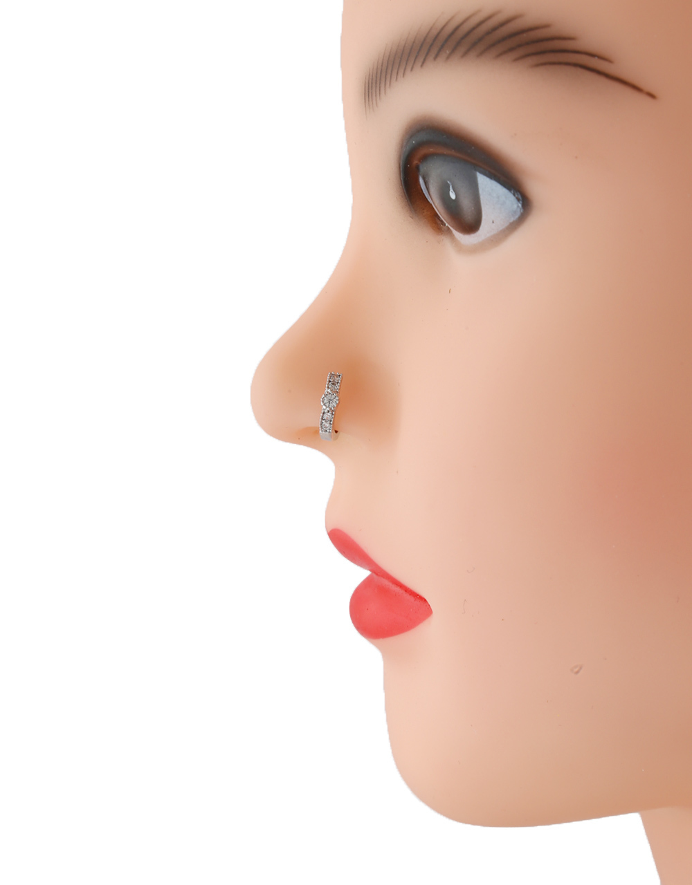 Silver Finish Party Wear Nose Ring For Girls