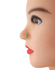 Designer Silver Finish Stunning Nose Stud