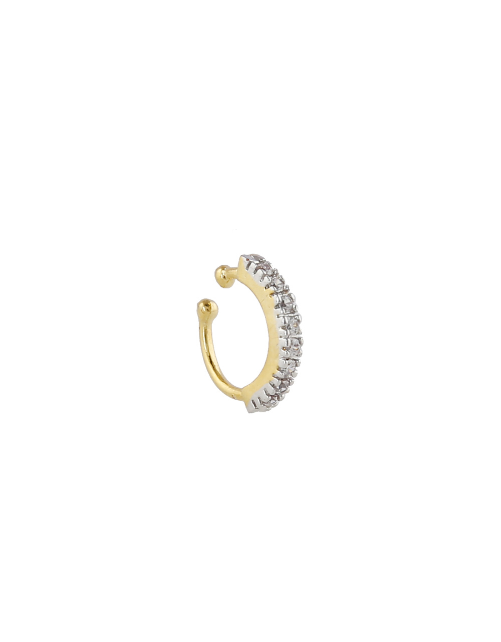 Gold Finish Fashionable Nose Ring For Girls