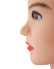 Silver Finish Fashionable Nose Ring