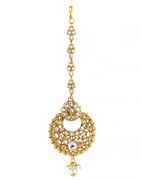 Floral Design Gold Finish Mang Tikka Fancy